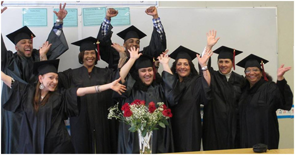Happy graduates of the Adult Learning Center