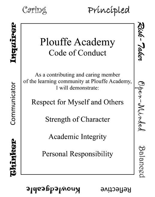 Plouffe Academy Code of Conduct